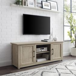 """""""Camden 58"""""""" Low Profile Tv Stand Frosted Oak- Crosley CF101158-FO"""""""
