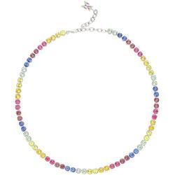 Chocker Necklace With Rainbow Crystals - Metallic - AMINA MUADDI Necklaces