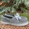 Vans Shoes | New Gray Vans Lace Up Slip On Boat And Skater Shoe | Color: Gray/White | Size: 9