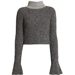 Wool-blend Scarf Knit Sweater - Gray - Loewe Knitwear