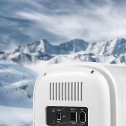 Fargor 6 Liter Mini Cosmetic Refrigerator Plastic in White, Size 11.8 H x 10.4 W x 7.8 D in | Wayfair L356