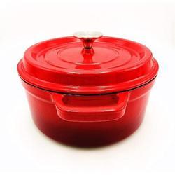 fedigorlocn 4.5 Quart Enamel Cast Iron Dutch Oven Pot w/ Lid Dutch Oven Enameled Cast Iron Durch Oven Enameled Cast Iron Pots & Pans | Wayfair in Red