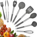 fedigorlocn Silicone Cooking Utensils Set, Kitchen Cookware 8Pcs Nonstick Cooking Spatula Set w/ Stainless Steel Handle | Wayfair