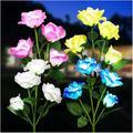 Kooper Solar Lights Outdoor Decorative, 4pack Solar Lights w/ 16 Rose Flowers Lights, Waterproof Solar Powered Outdoor Garden Lights Landscape Decor