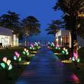 Solar Lights Outdoor Decorative, Kooper 4 Pack Solar Garden Lights w/ 16 Calla Flowers 7 Color Changing Led Soalr Powered Outdoor Lights, Waterproof