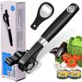 OLO Can Opener Smooth Edge -Safe Cut- Can Opener Handheld w/ Ergonomics Design For Seniors w/ Arthritis in Black/Gray, Size 9.06 W x 2.36 D in