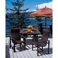 Tropitone Lakeside Woven High Back Dining Chair in Brown   Wayfair 740501WSSeat CAMFinish SNR