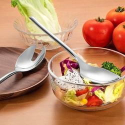 "Latitude Run® Deluxe Large 10"" Salad Servers,18/10 Stainless Steel Salad Serving Set, Set Of 2 Includes A Salad Spoon & Salad Fork   Wayfair"