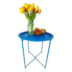 Latitude Run® Metal Side Table, Sofa Table Small Round End Tables, Anti-Rust & Waterproof Outdoor Or Indoor Snack Table, Accent Coffee Table Metal