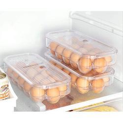 Prep & Savour Egg Holder Stackable Plastic Covered Egg Tray Holder Plastic Refrigerator & Pantry Egg Bin, BPA Free Fridge Organizer w/ Lid | Wayfair