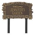 Whitehall Products Ivy Trellis Welcome Personalized Garden SignMetal, Size 14.0 H x 8.13 W x 0.38 D in | Wayfair 1982OG