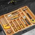 ZWISSLIV Bamboo Expandable Drawer Organizer,Cutlery & Utensil Tray, Desk Drawer Organizer Silverware Holder Kitchen Knifes Tray Drawer Organizer