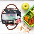 Arlmont & Co. Lunch Bag Cooler Bag Women Tote Bag Insulated Lunch Box Water-Resistant Thermal Lunch Bag Soft Liner Lunch Bags in Blue   Wayfair