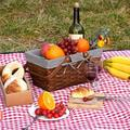 August Grove® Woodchip Picnic Basket w/ Double Folding Handles, Hand Woven Easter Eggs & Candy Basket, Bath & Toy Wicker Storage Basket | Wayfair