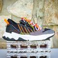 Adidas Shoes | Adidas Ozweego Zip Men Running Shoes Size 9 | Color: Black/Orange | Size: 9