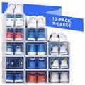 honer Shoe Organizer Shoe Rack | Stylish Clear Plastic Stackable Shoe Boxes For Closet Organizers & Shoe Storage - Sneaker, Boot | Wayfair