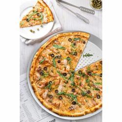 JUMBO Pizza Pan Pizza Pan w/ Holes Perforated Food Network Pizza Pan Round Pizza Tray Pizza Crisper Pan Heavy Duty Aluminum Alloy Pizza Baking Tray Bakewa Aluminum