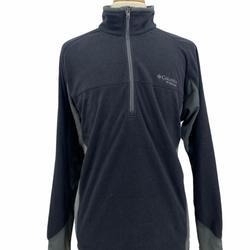Columbia Sweaters | Columbia Titanium Mens Outdoor Gray Half Zip Flee | Color: Black/Gray | Size: Xl