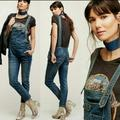 Free People Jeans   Free People Washed Denim Bib Overalls   Color: Blue/Green   Size: 26
