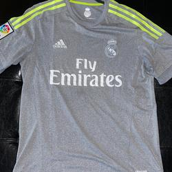 Adidas Shirts | Adidas Real Madrid Jersey Climacool | Color: Gray/Yellow | Size: M