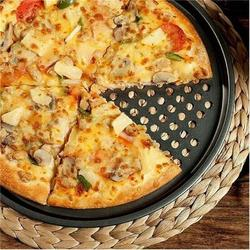 gelaosidun 2Pcs-13Inch Pizza Pans w/ Holes Carbon Steel Nonstick Baking Pan Round Pizza Pan Pizza Tray in Black/Gray   Wayfair 6PB2L608H4QYY9Y