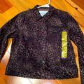 Nine West Jackets & Coats | Nine West Jeans Cheetah Denim Jacket Brand New | Color: Black/Brown | Size: Various