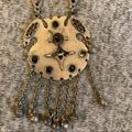 Free People Jewelry   Native American Pendant Turtle Necklace Silver   Color: Black/Silver   Size: Os