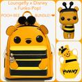 Disney Bags | Loungefly Funko Pop! Disney Pooh Bee Backpack Set! | Color: Black/Gold | Size: 3 Pc. Set