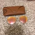 Ray-Ban Accessories | Flash + Gold Round Flat Lenses Ray Bands | Color: Gold | Size: Os