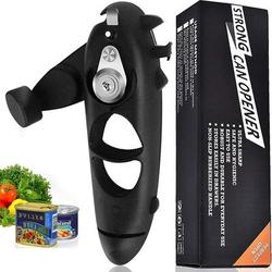 Battle Cow 8 In 1 Can Opener, Multifunction Manual Bottle Opener, Hand Held Kitchen Tool w/ Rotating Handle,Suitable For Seniors w/ Arthritis Labor