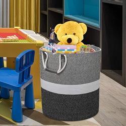 Dovecove 17X17x19 Inches Large Cotton Rope Basket, Storage Basket, Woven Laundry Hamper, Toy Storage Bin, Nursery Storage Basket, Baby Bin Organizer
