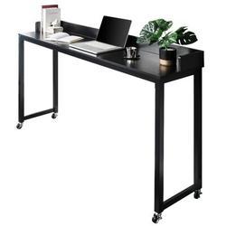 Latitude Run® Overbed Table w/ Wheels,Queen Size Mobile Desk w/ Heavy-Duty Metal Legs, Great For Bedroom, Dining Room, Living Room   Wayfair in Black
