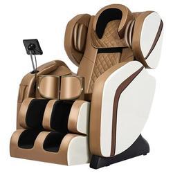Inbox Zero Reclining Heated Full Body Zero-Gravity 8D Electric Massage Chair in Brown/Green, Size 46.0 H x 57.0 W x 30.0 D in   Wayfair