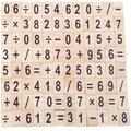 Lettres anglaises en bois, carreaux de l'alphabet, Scrabble noir, lettres et chiffres pour