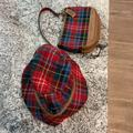 Coach Accessories   Coach Plaid Bucket Hat Plus Purse   Color: Green/Red   Size: Os