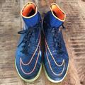 Nike Shoes | Nike Hypervenom Mens Turf Sneakers | Color: Blue/Orange | Size: 10