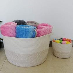 "Dovecove XXXL Large Cotton Rope Basket w/ Handles 22""X14"" Launder Basket, Woven Storage Basket, Large Basket, Blanket Basket, Toy Basket | Wayfair"