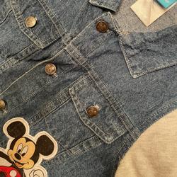 Disney Jackets & Coats | Boys Disney Themed Lightweight Jean Jacket | Color: Blue/Gray | Size: 5tb