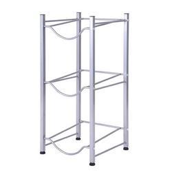 Rebrilliant 3 - Tier Water Rack Stainless Steel Heavy Duty Water Cooler Jug Rack in Gray, Size 29.5 H x 13.4 W x 13.4 D in   Wayfair