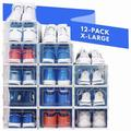 Rebrilliant Shoe Organizer Shoe Rack   Stylish Clear Plastic Stackable Shoe Boxes For Closet Organizers & Shoe Storage - Sneaker, Boot   Wayfair