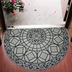 Canora Grey Decorative Doormat Outdoor Rubber Mat For Front Door Entrance Mat Indoor 2X3 Rug For Front Door Entry Non Slip Mat Outside Doormat Half Round Rubber
