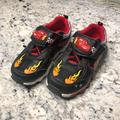 Disney Shoes | Disney Lighting Mcqueen Light Up Sneakers Size -10 | Color: Black/Red | Size: 10