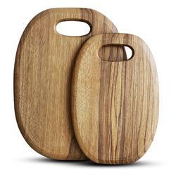SSHAOSS 2 Piece Teak Wood Cutting Board Set Wood in Brown, Size 2.72 H x 10.98 W in | Wayfair SSHAOSSf444335