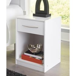 Signature Design by Ashley Furniture Nightstands White - Finch White One Drawer Night Stand