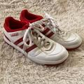 Adidas Shoes | Ladies Red Adidas Clubline Classics Sneaker Size 9 | Color: Red | Size: 9