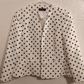 Nine West Jackets & Coats | Nine West Polka Dot Jacket | Color: Black/White | Size: 10