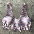 Pink Victoria's Secret Swim | Pink Victorias Secret White Stripe Tie Bikini | Color: White | Size: S