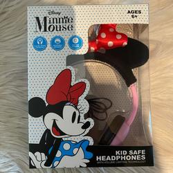 Disney Other | Disneys Minnie Mouse Red Bow Kids Safe Headphones | Color: Red | Size: Osg