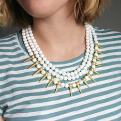 Anthropologie Jewelry   Agate Necklace Statement Necklace Anthropologie   Color: Gold/White   Size: Os