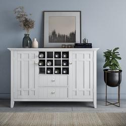 "Winston Porter Momea 54"" Wide 2 Drawer Sideboard Wood in White, Size 36.0 H x 54.0 W x 17.0 D in   Wayfair 2C7770AB28614321A190D153CFC9ADCF"